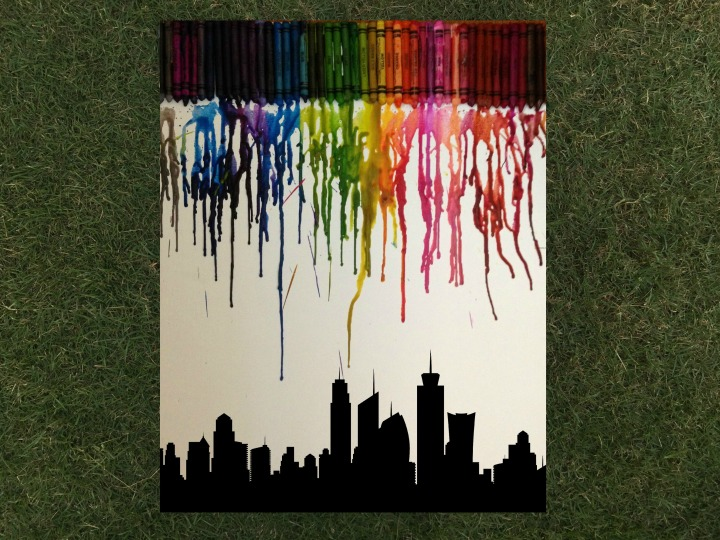 Diy crayon art chaotic journal materials required canvas wax crayons solutioingenieria Image collections